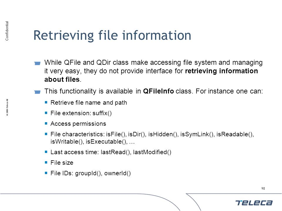 Retrieving file information
