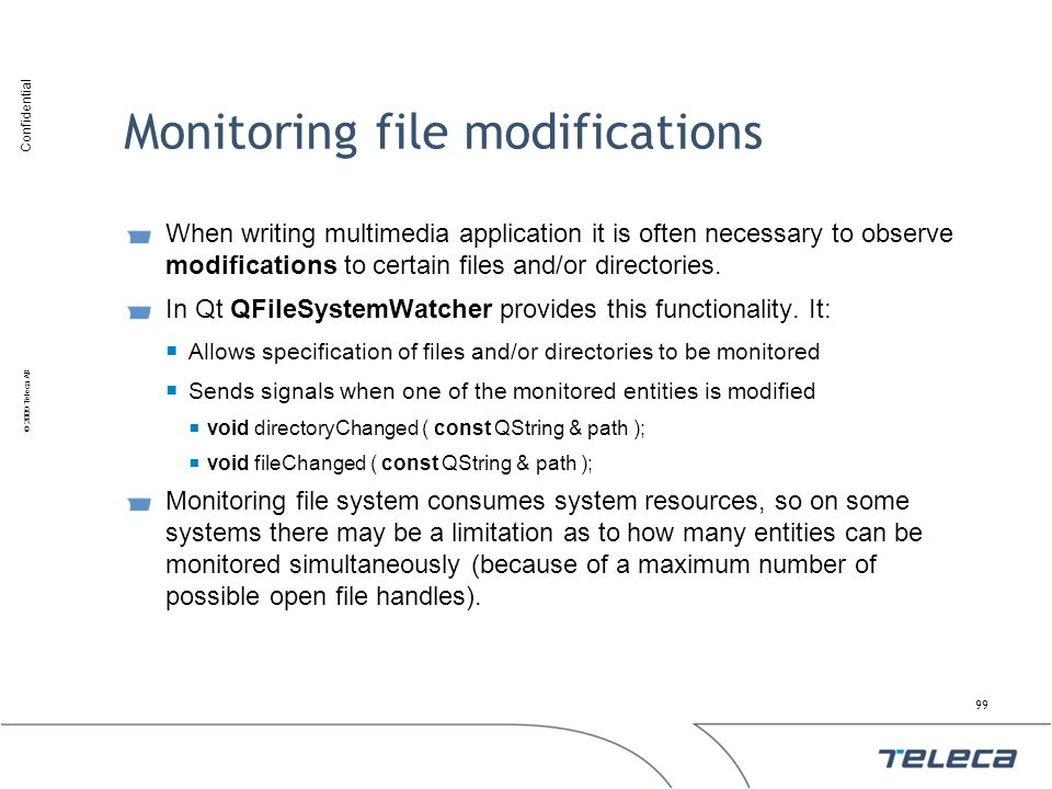 Monitoring file modifications