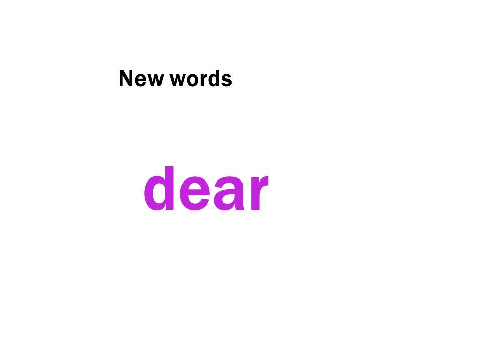 New words dear