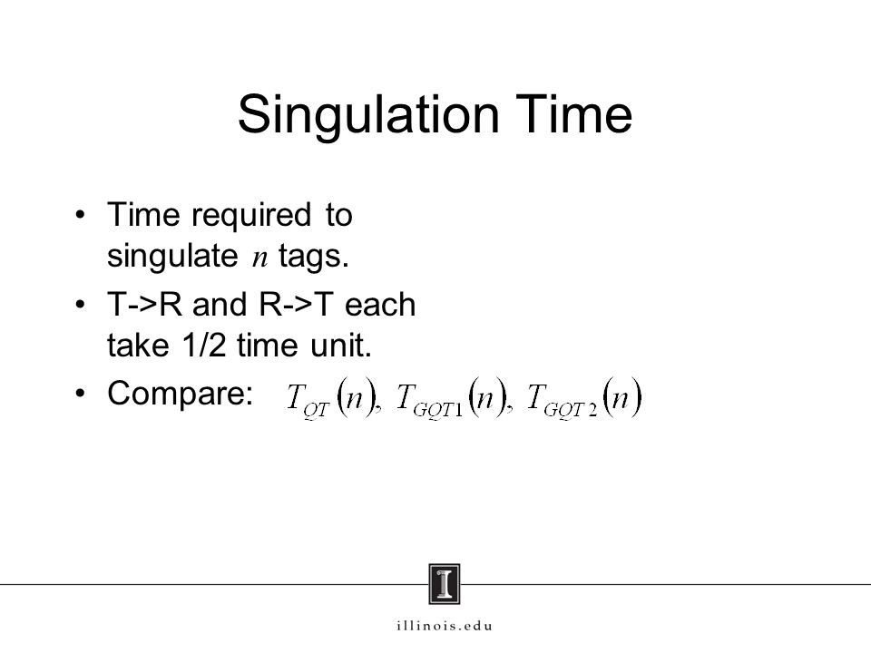 Singulation Time Time required to singulate n tags.