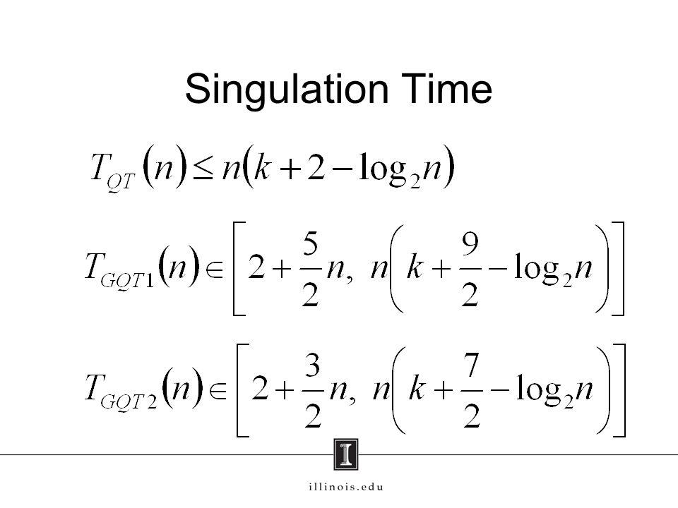 Singulation Time