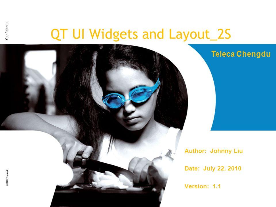 QT UI Widgets and Layout_2S