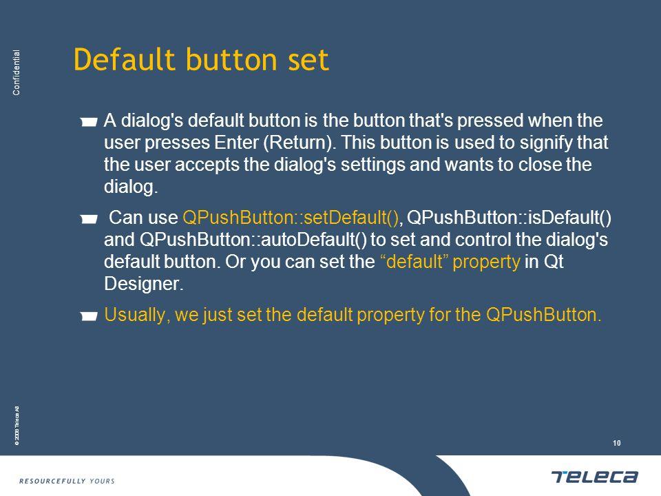 Default button set