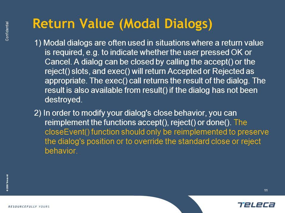 Return Value (Modal Dialogs)