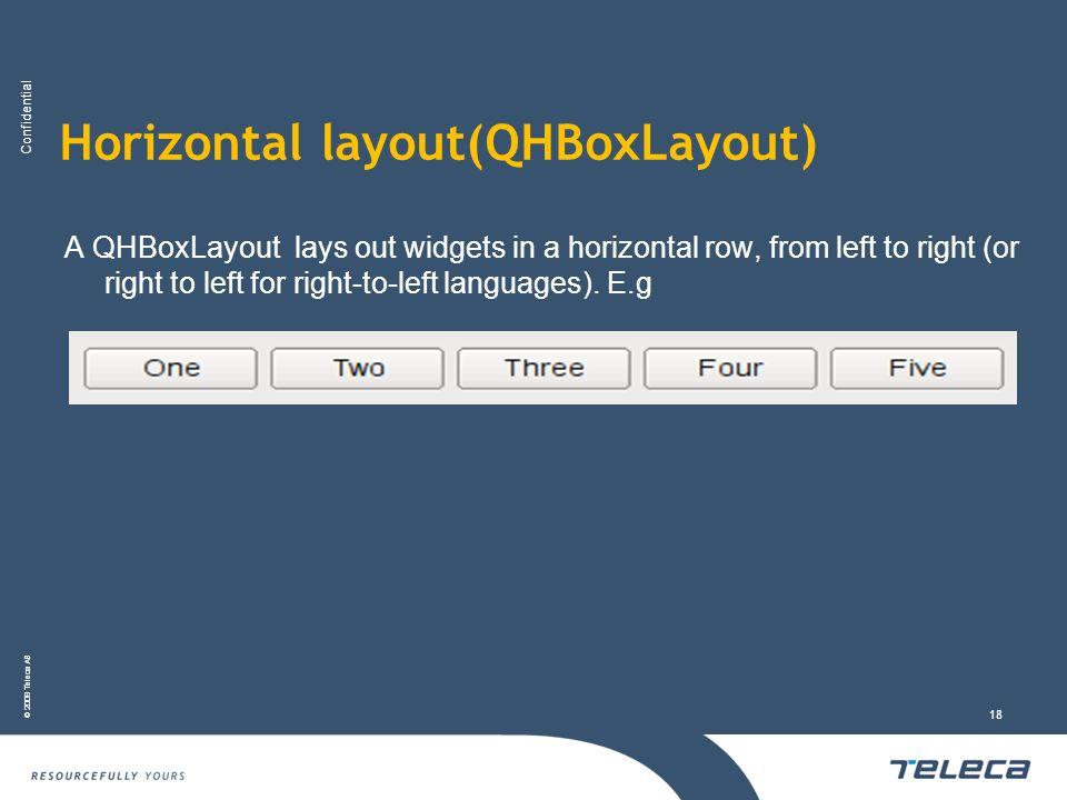 Horizontal layout(QHBoxLayout)