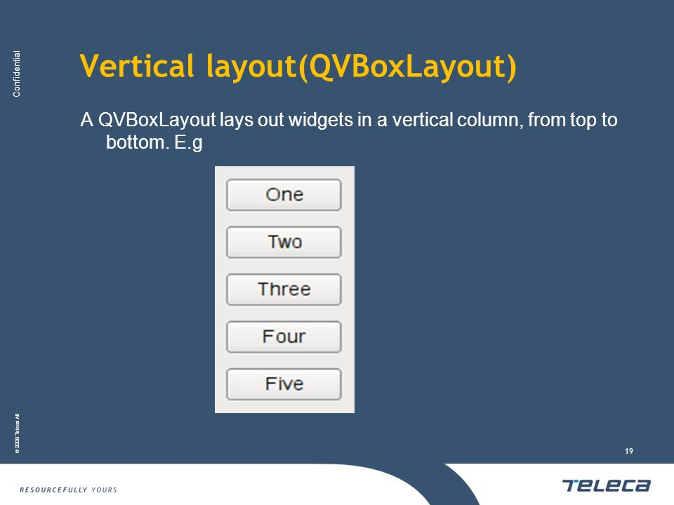 Vertical layout(QVBoxLayout)