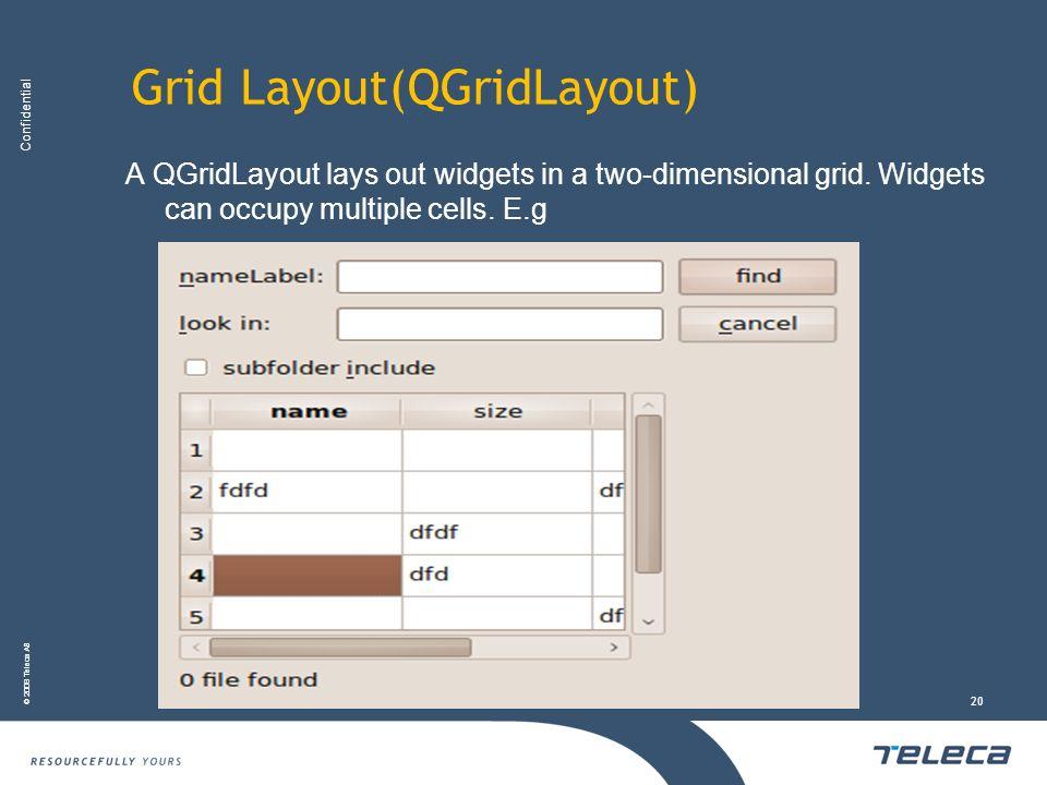 Grid Layout(QGridLayout)