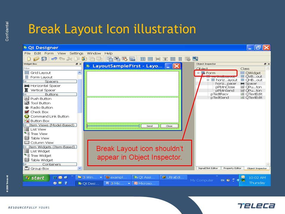 Break Layout Icon illustration