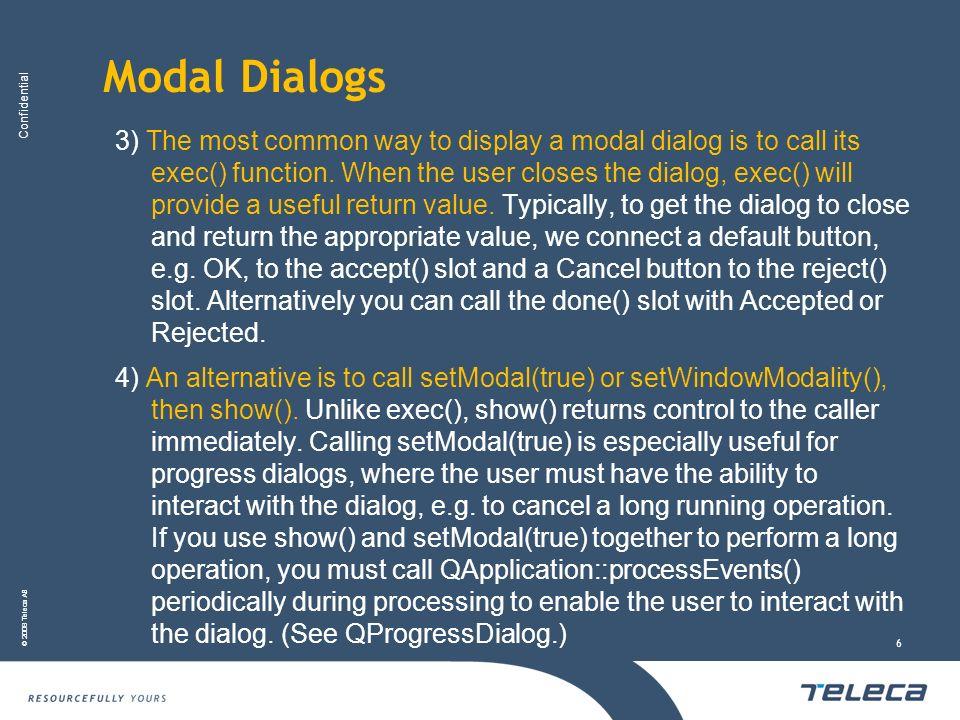 Modal Dialogs