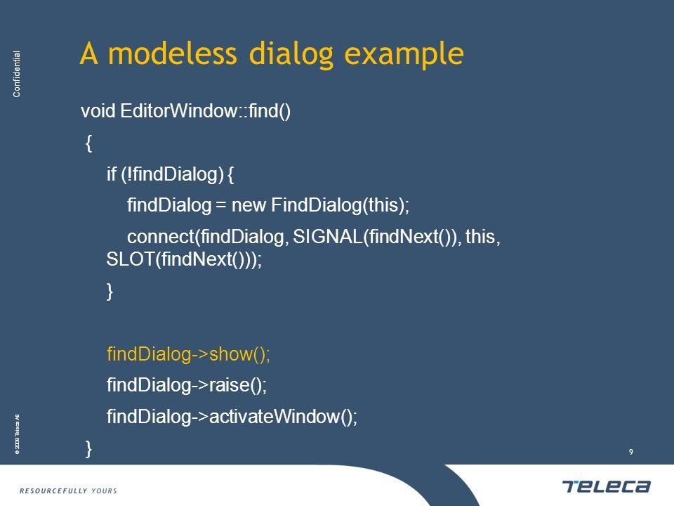 A modeless dialog example