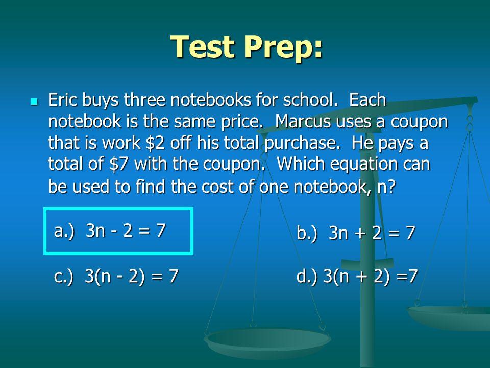 Test Prep:
