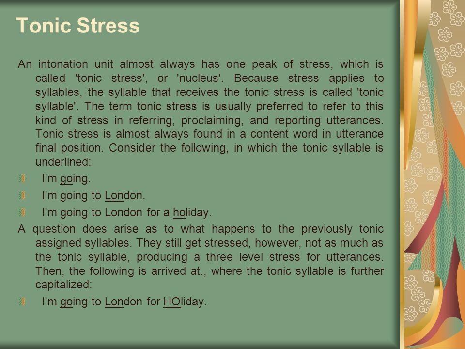 Tonic Stress