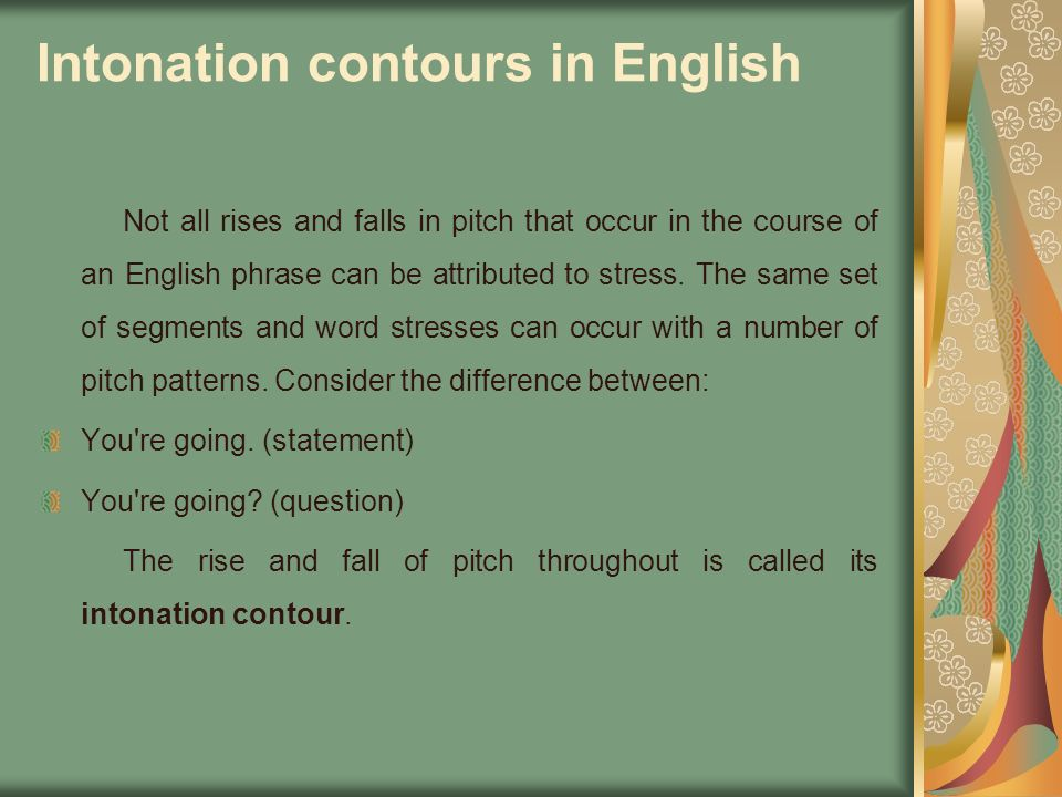 Intonation contours in English
