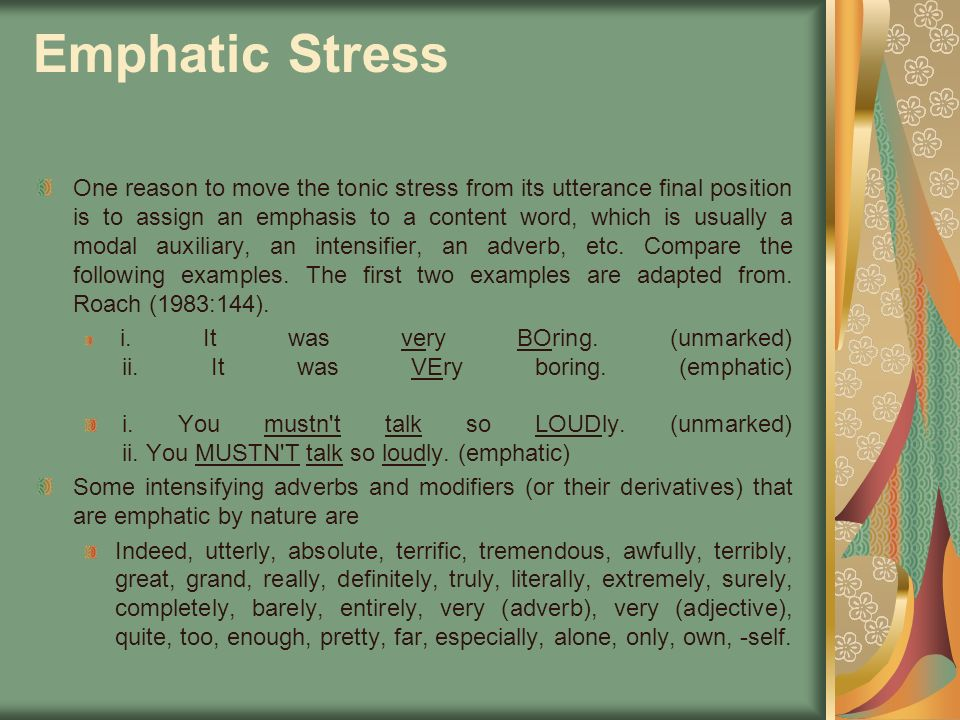 Emphatic Stress