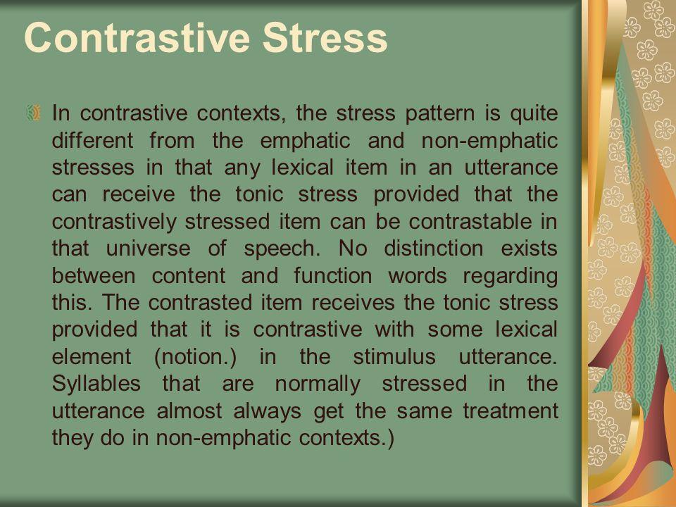 Contrastive Stress