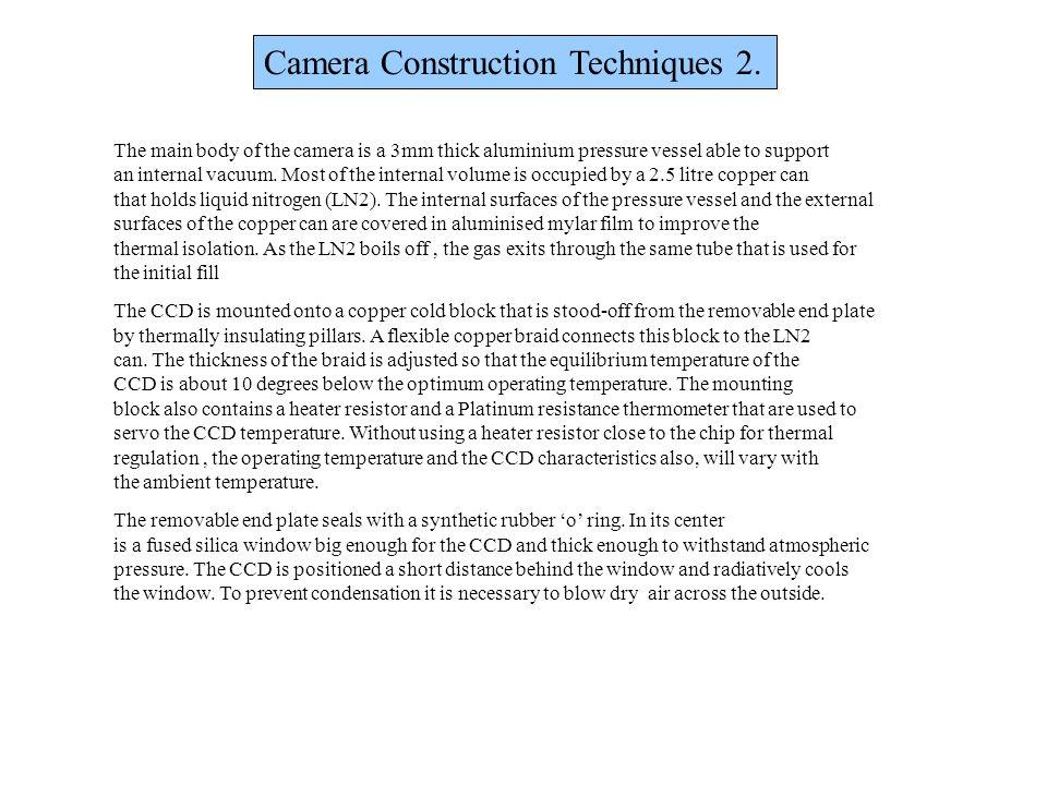 Camera Construction Techniques 2.