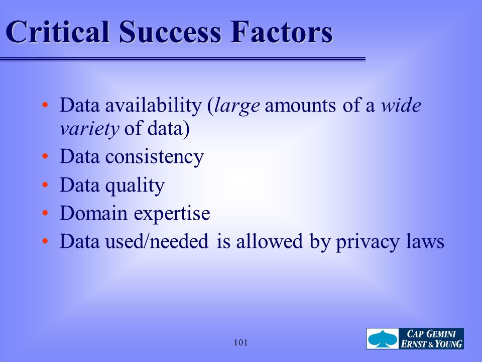 Critical Success Factors