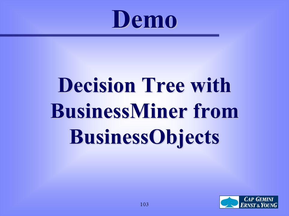 Decision Tree with BusinessMiner from BusinessObjects