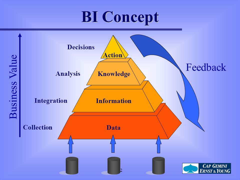 BI Concept Feedback Business Value Decisions Action Analysis Knowledge