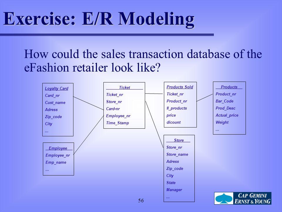 Exercise: E/R Modeling
