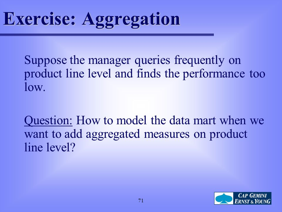 Exercise: Aggregation