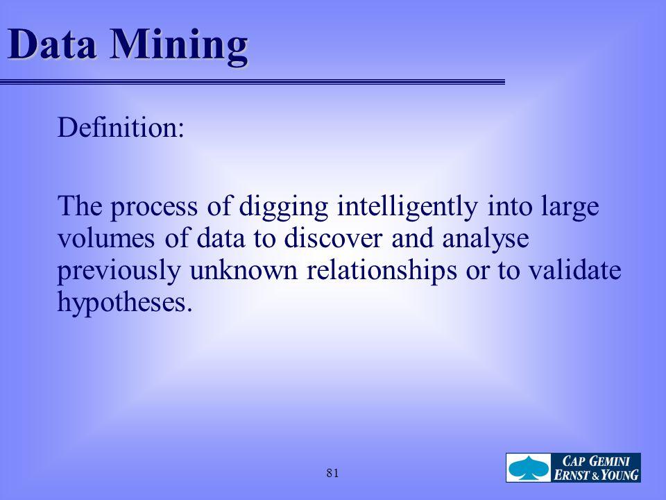 Data Mining Definition: