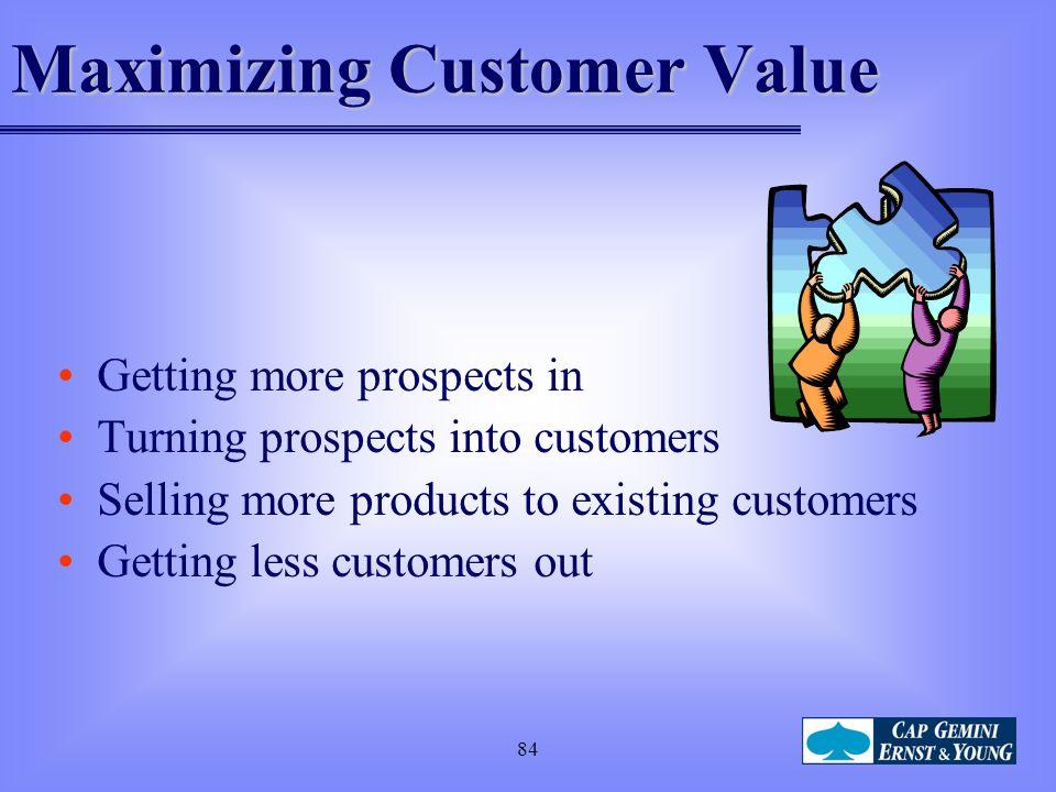 Maximizing Customer Value