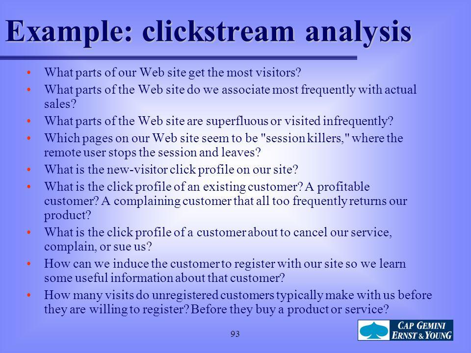 Example: clickstream analysis