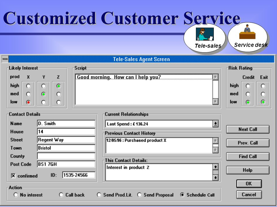 Customized Customer Service