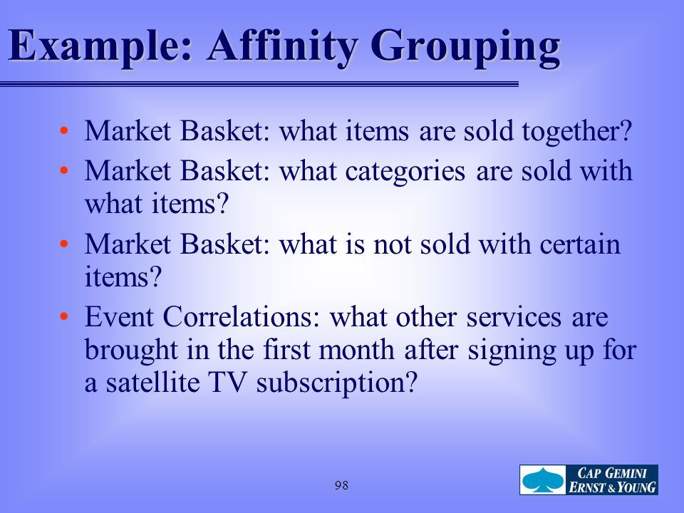 Example: Affinity Grouping
