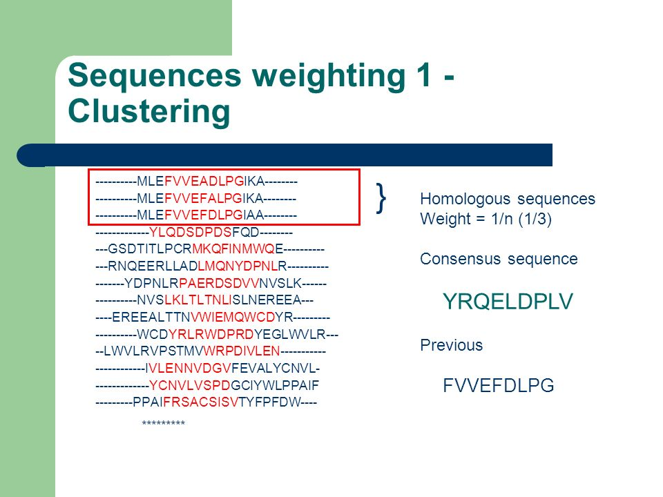 Sequences weighting 1 - Clustering