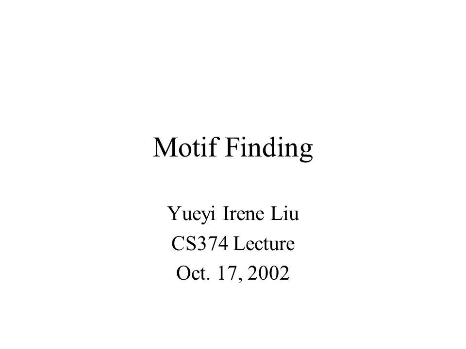 Yueyi Irene Liu CS374 Lecture Oct. 17, 2002