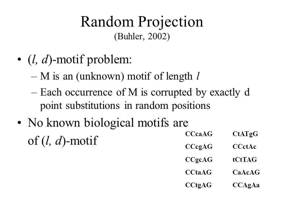 Random Projection (Buhler, 2002)