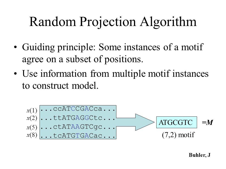 Random Projection Algorithm