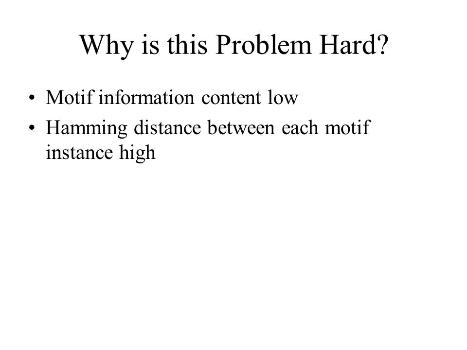 Why is this Problem Hard