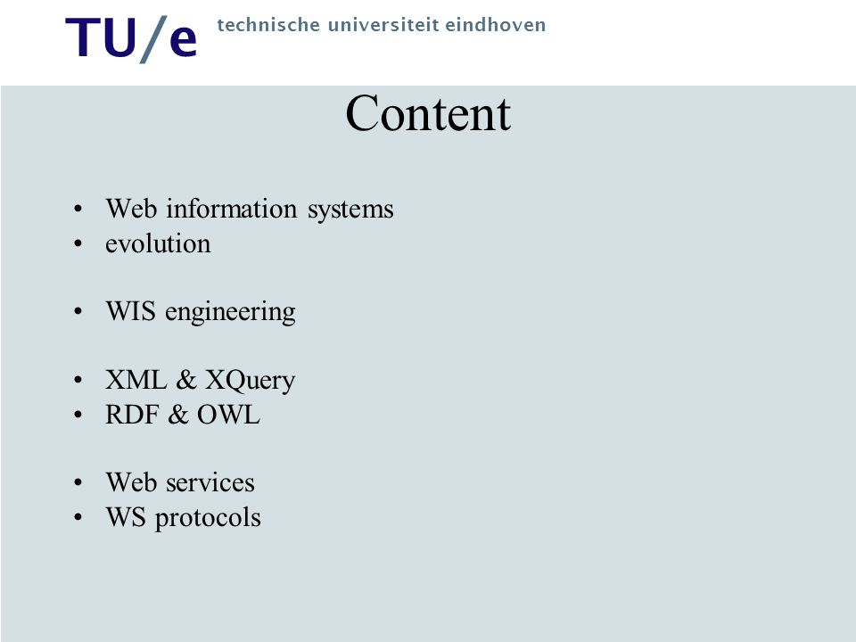 Content Web information systems evolution WIS engineering XML & XQuery
