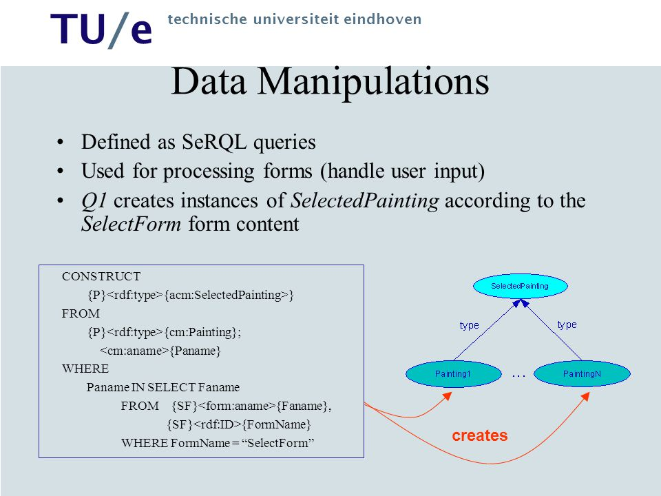 Data Manipulations Defined as SeRQL queries