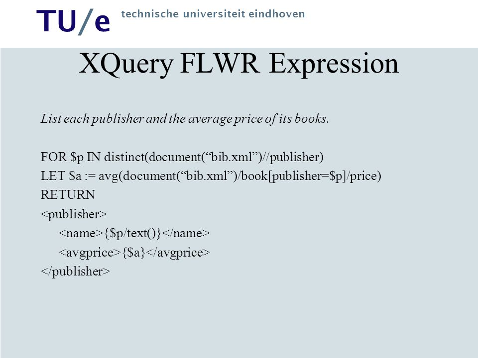 XQuery FLWR Expression
