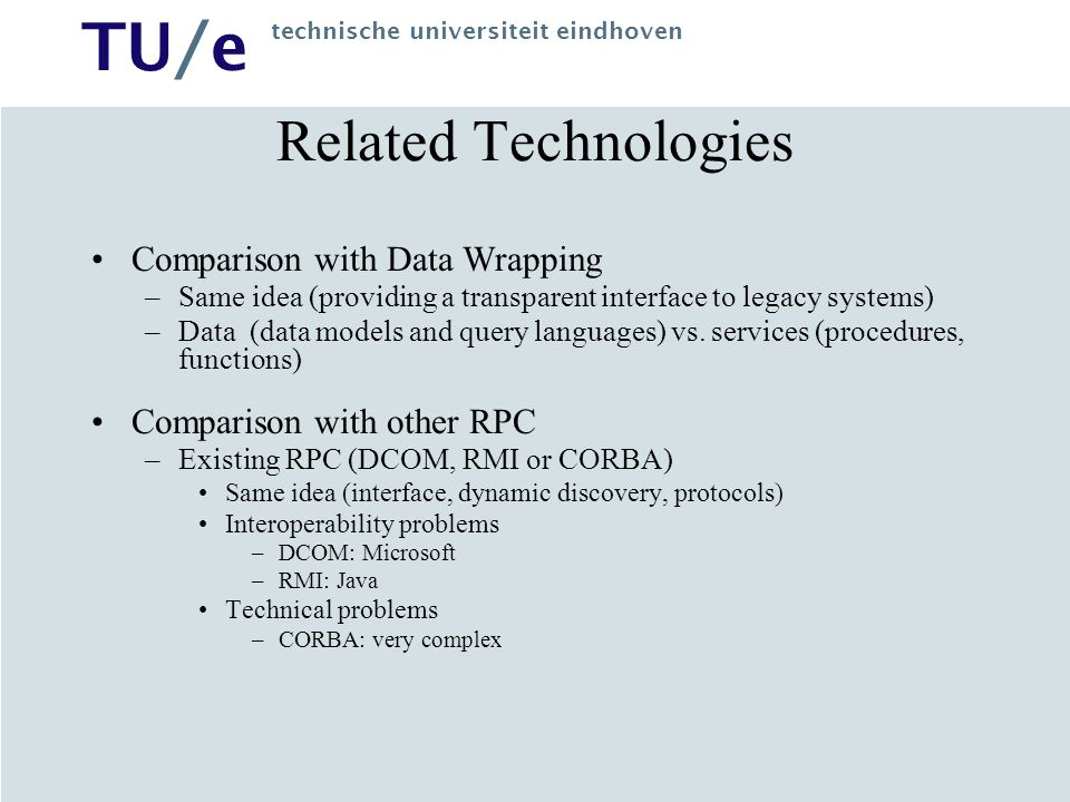 Related Technologies Comparison with Data Wrapping