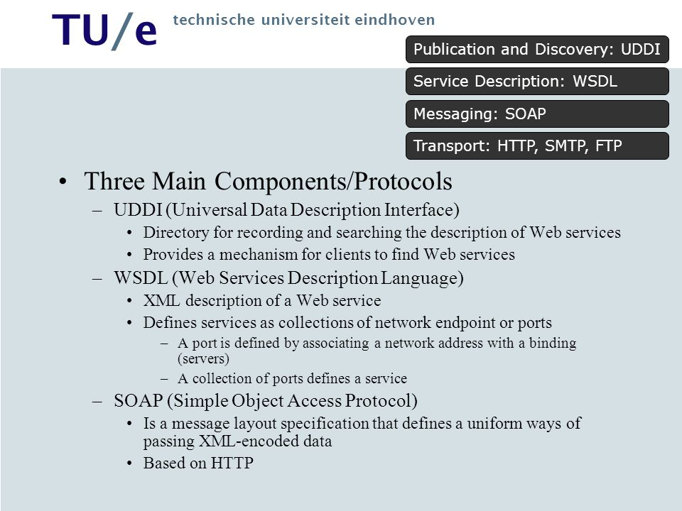 Three Main Components/Protocols