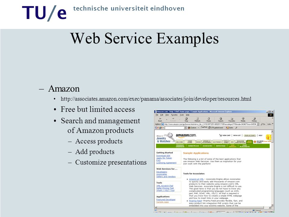 Web Service Examples Amazon Free but limited access