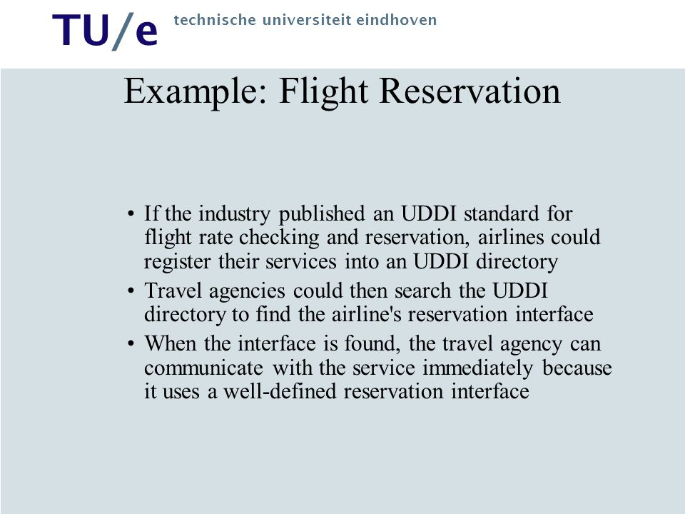 Example: Flight Reservation