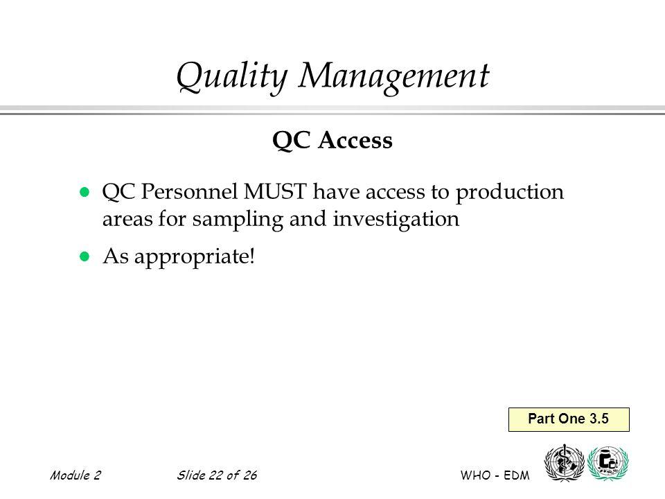 Quality Management QC Access