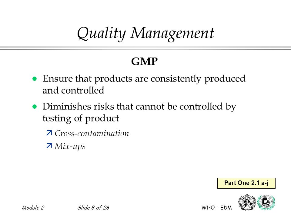 Quality Management GMP