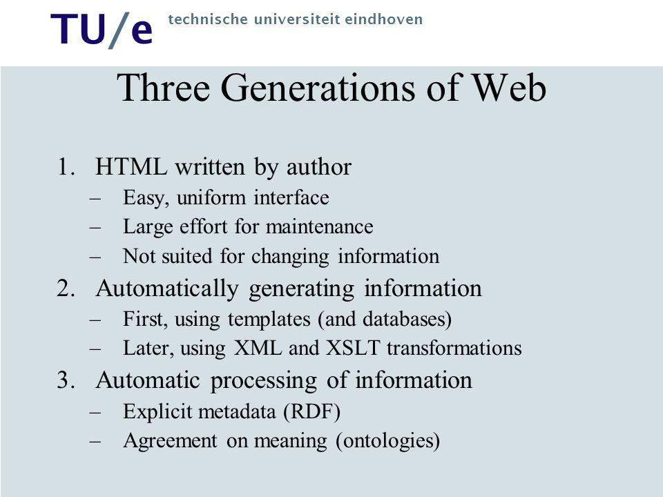 Three Generations of Web