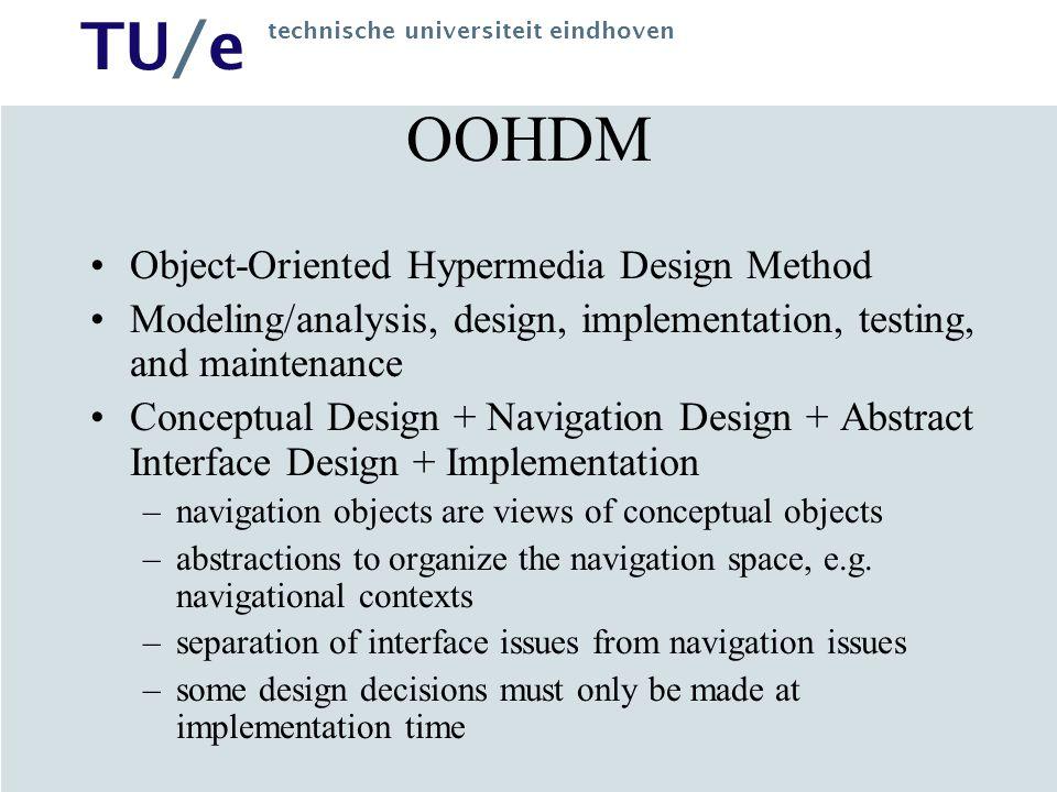 OOHDM Object-Oriented Hypermedia Design Method