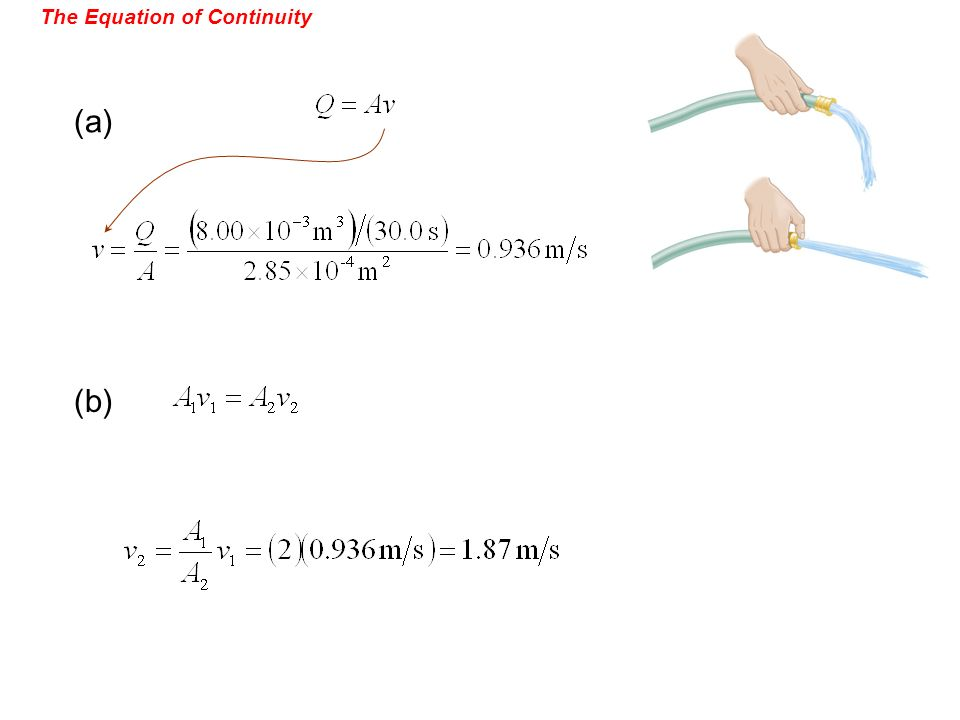 The Equation of Continuity