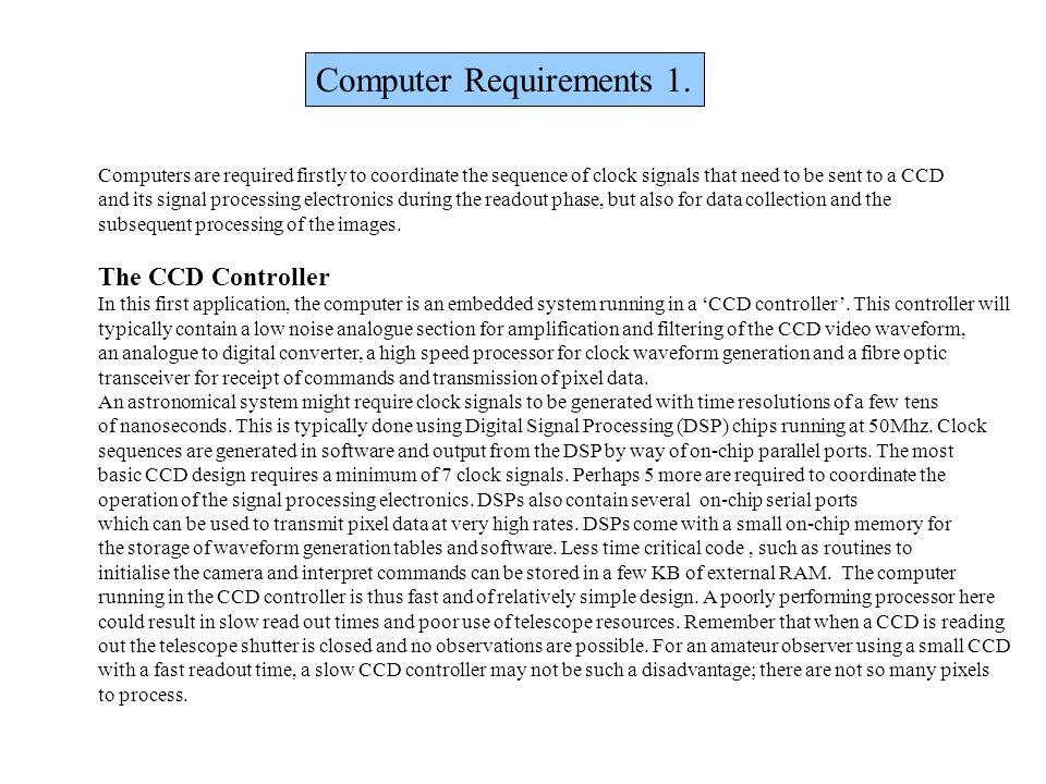 Computer Requirements 1.