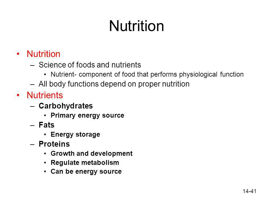 Nutrition Nutrition Nutrients Science of foods and nutrients