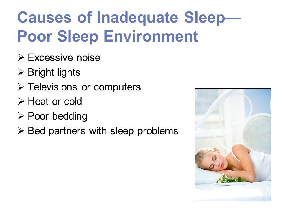 Causes of Inadequate Sleep—Poor Sleep Environment